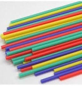 Deco Pack Plastic Sucker Sticks (6 inch Primary) 50ct