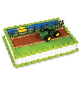 Decopac Farm Tractor and Trailer Cake Topper