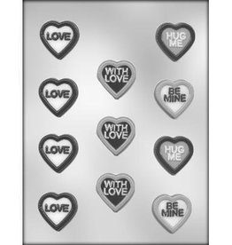 CK Products Heart with Message Chocolate Mold