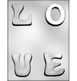 CK Products L-O-V-E Letters Chocolate Mold