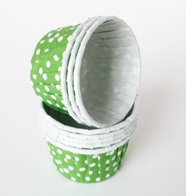 Lime Green Polka Dot Nut Cups