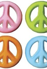 Lucks Peace Sign Assortment Sugar Dec Ons