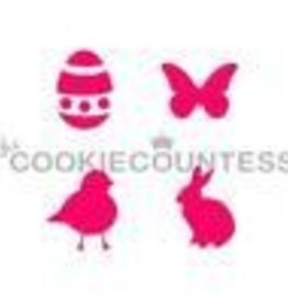 Cookie Countess The Cookie Countess Stencil (Easter 4-some)