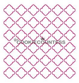 236 The Cookie Countess Stencil (Quatrefoil)