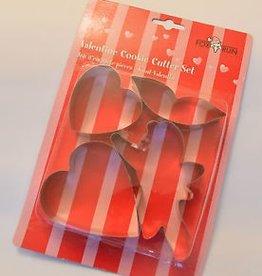 Fox Run Valentine's Day Cookie Cutter Set
