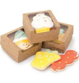 American Crafts Sweet Sugarbelle Single Cookie Box (Kraft/Gold Dot) 4ct