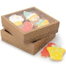 American Crafts Sweet Sugarbelle Quad Cookie Box (Kraft/Gold Dot) 3ct
