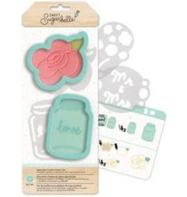 American Crafts Sweet Sugarbelle Country  Rose Cookie Cutter Set