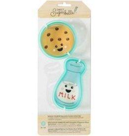 American Crafts Sweet Sugarbelle Cookie Cutter Set (Milk &Cookies)