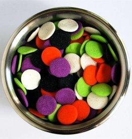Decopac Halloween Jumbo Quins (Orange, White, Purple, Black)