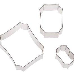 Ateco Plaque Cutter Set - 3pc