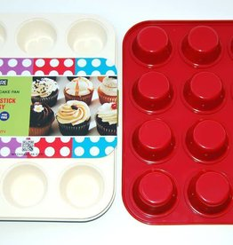 Casa Ware Muffin Pan 12 cup (Red)