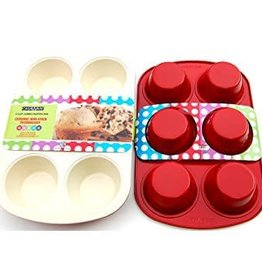 Casa Ware Muffin Pan Jumbo 6cup (Red)