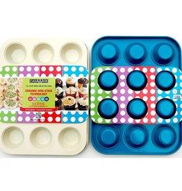 Casa Ware Muffin Pan Mini 12 cup (Blue)