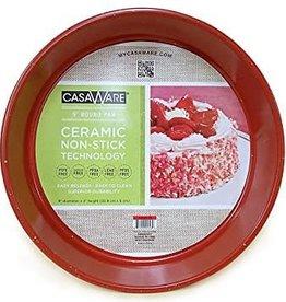 """Casa Ware Round Baking Pan 9"""" (Red Granite)"""