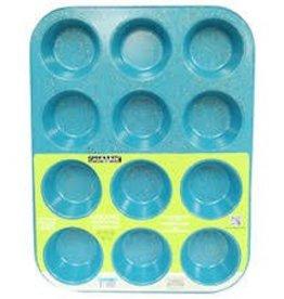 Casa Ware Muffin Pan 12 Cup (Blue Granite)