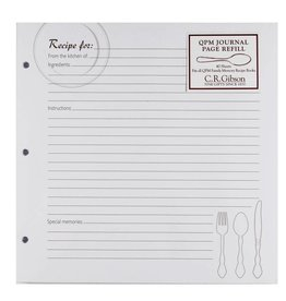 CR Gibson Recipe Journal Page Refill (QPM)