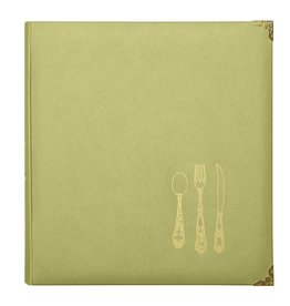 CR Gibson Leatherette Recipe Binder (Chartreuse)