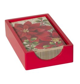 CR Gibson Guest/Dinner Napkin Caddy (Red Lacquer)
