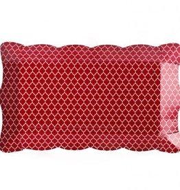 Simply Baked Buffet Trays (Scarlet Quadrafoil) 6pk