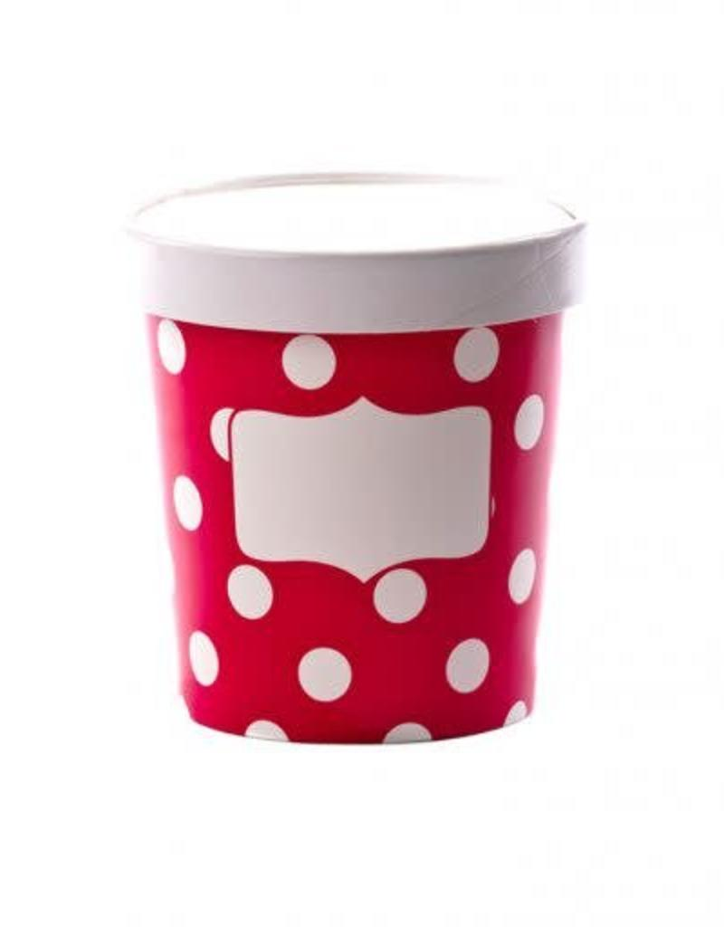 Soup Cups, Small (Scarlet Dot) 3pk