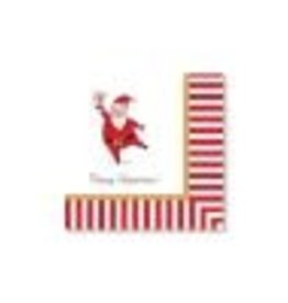 CR Gibson Silly Santa Beverage Napkins, set of 20
