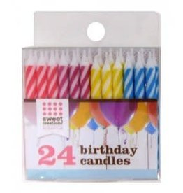 Sweet Creations Birthday Candles (Diagonal Stripe)