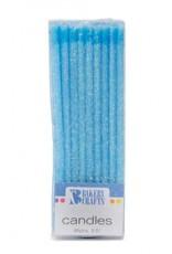 Decopac Slim Glitter Candles (Blue)