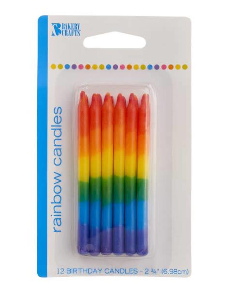 Decopac Rainbow Candles - 12ct