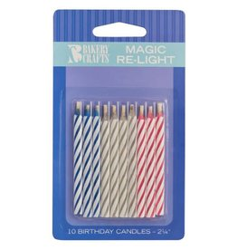 Decopac Magic Re-Lighting Candles - 10ct