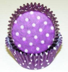 CK Purple Polka Dot Baking Cups