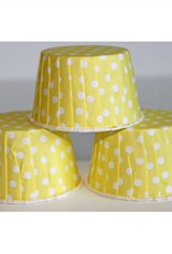 Yellow Polka Dot Nut Cups