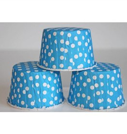 Blue Polka Dot Nut Cups