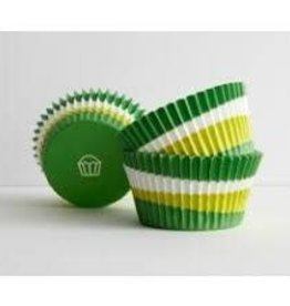 Viking Green Swirl Baking Cups