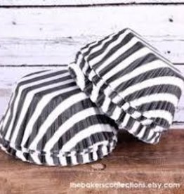 Viking Black Wide Stripe Baking Cups
