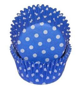 CK Blue Polka Dot Baking Cups
