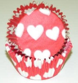 CK Heart Baking Cups (Red W/ White Hearts)