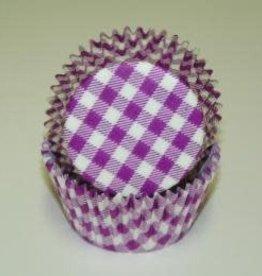 CK Purple Gingham Baking Cups