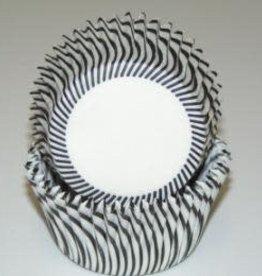 CK Black Stripe Baking Cups