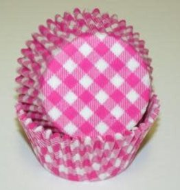 CK Hot Pink Gingham Baking Cups