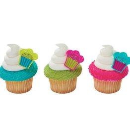 """Decopac """"Cupcake"""" Cupcake Rings (12 per pkg)"""