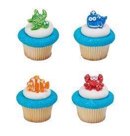 Decopac Beach Cuties Cupcake Rings (12 per pkg)