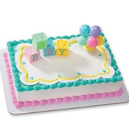 Decopac Baby Blocks and Balloons Cake Topper