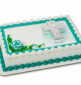 Decopac Silver Cross Cake Topper