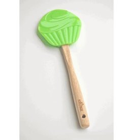 Fox Run Spatula (Small Green Silicone Cupcake)