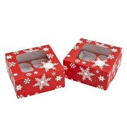 Bradshaw International Cupcake Box Snowflake (2 Pack)