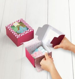 Sweet Creations Cookie Boxes, Medium (Pink Chevron) Set of 3