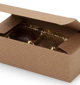 Nashville Wraps Kraft Pinstripe Candy Box (1/2 lb.)