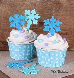 Blue Snowflake Picks