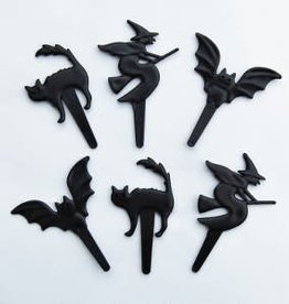 Deco Pack Bat, Witch, Cat Cupcake Picks
